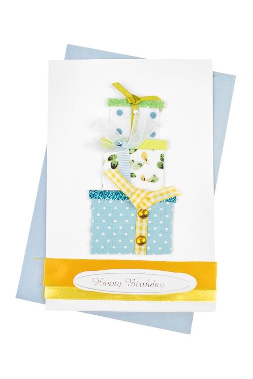 Открытка подарочная Гора подарковСувениры и упаковка<br>10*15см, с конвертом, ручная работа<br>