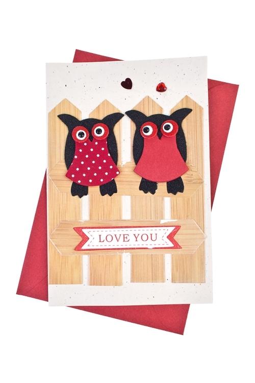 Открытка подарочная Признание в любвиСувениры и упаковка<br>10*15см, с конвертом, ручная работа<br>