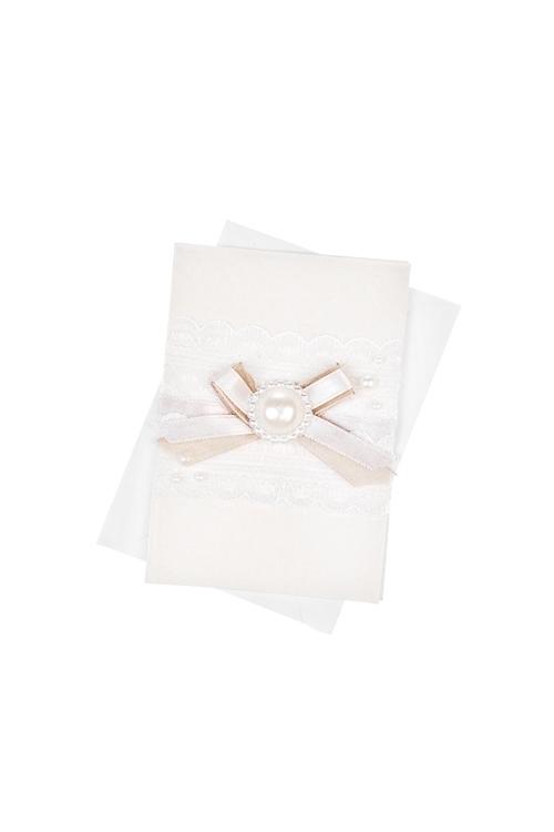 Открытка подарочная КружеваОткрытки<br>7*10см, с конвертом, ручная работа<br>