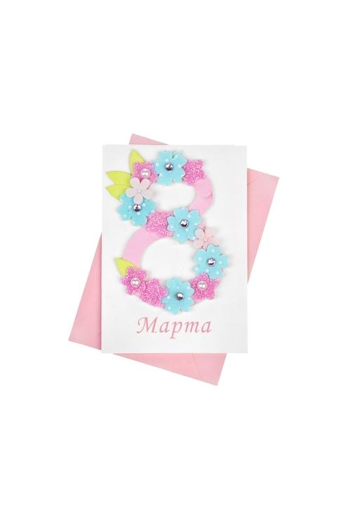 Открытка подарочная Цветочный полетОткрытки<br>7*10см, с конвертом, ручная работа<br>
