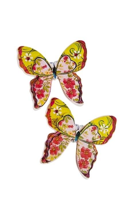Набор наклеек БабочкиНаклейки и аппликации<br>11*7см (2 наклейки)<br>
