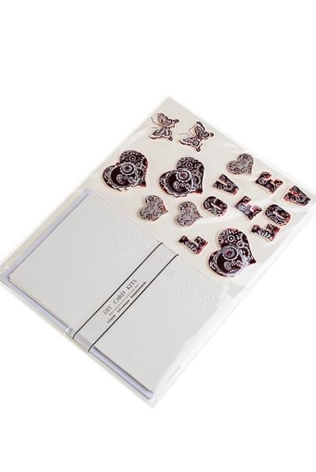 """Набор для создания открытки """"Сердца и бабочки"""""""