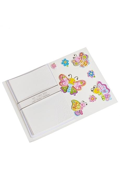 Набор для создания открытки БабочкиОткрытки<br>(5 открыток 5 конвертов украшения)<br>