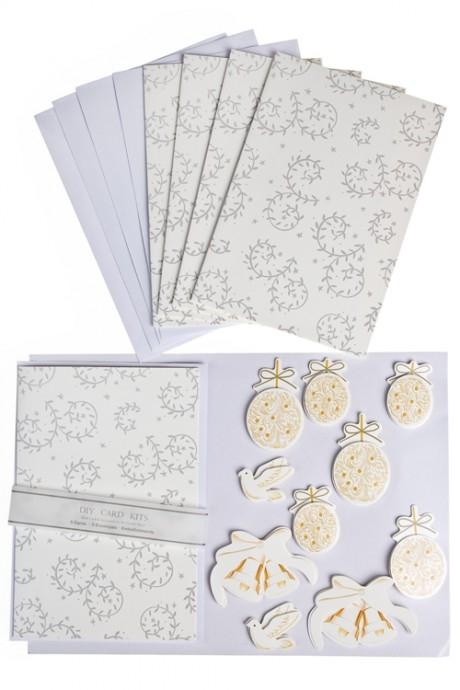 Набор для создания открытки Украшения на елкуОткрытки<br>5 открыток, 5 конвертов, украшения<br>