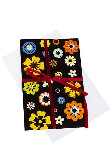 Открытка подарочная Диковинные цветыОткрытки<br>12.2*19см бум. с конвертом<br>