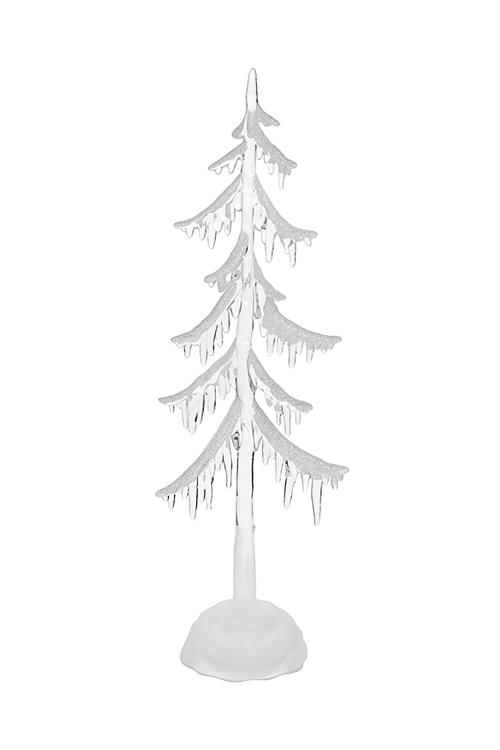 Украшение новогоднее светящееся Елка в снегуПодарки на Новый год 2018<br>8*4*25см, пластм., на батарейках<br>