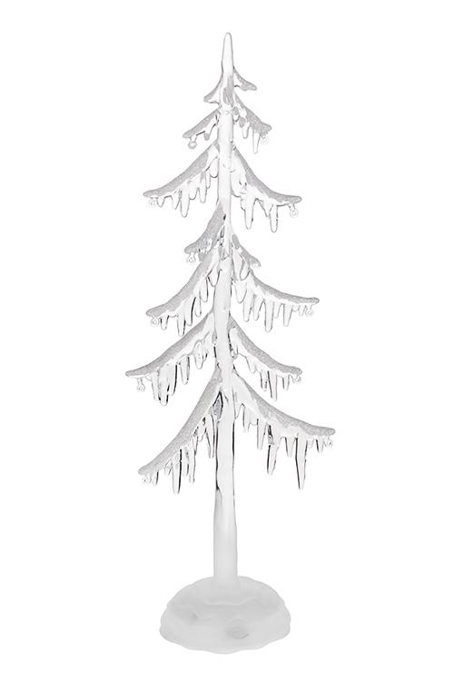 Украшение новогоднее светящееся Елка в снегуЛедяные фигуры<br>12*6*34см, пластм., на батарейках<br>
