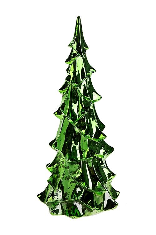 Украшение новогоднее светящееся ЕлочкаИнтерьер<br>13*27см, пластм., зеленое, на батарейках.<br>