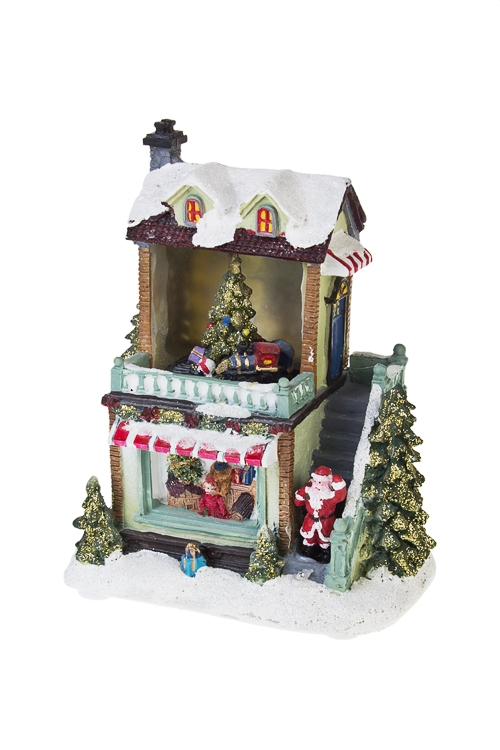 Украшение новогоднее светящееся и двигающееся Магазин подарковСветящиеся украшения<br>15*10*17см, полирезин, на батар.<br>