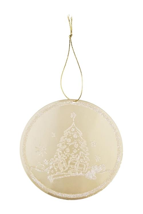 Украшение новогоднее Зимняя сказкаПодарки<br>Д=12см, акрил, золот., подвесное<br>