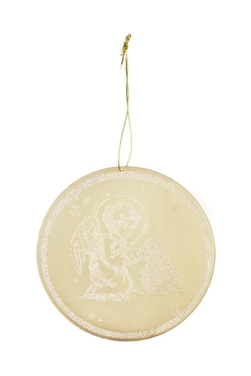 Украшение новогоднее АнгелокПодарки<br>Д=12см, акрил, золот., подвесное<br>