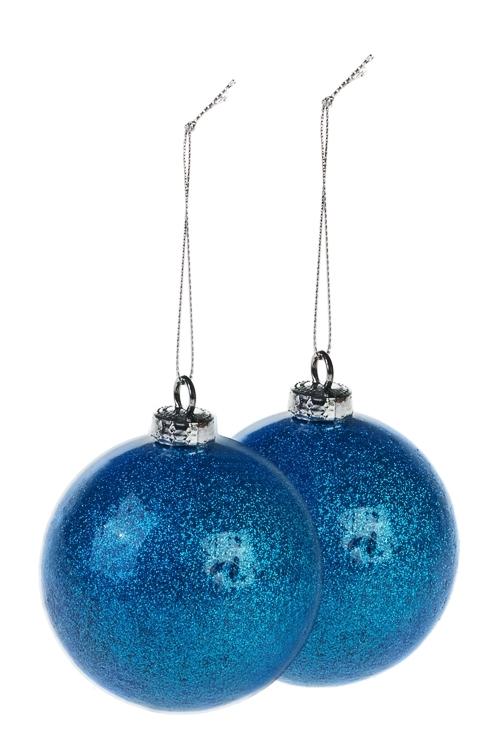 Набор шаров елочных СияниеПодарки<br>Д=8см, пенопласт, сине-голуб.<br>