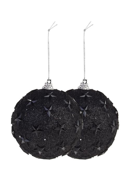 Набор шаров елочных Звездная ночьПодарки<br>Д=8см, пенопласт, черный<br>