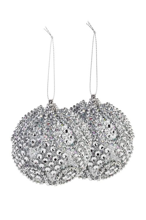 Набор шаров елочных Снежное сияниеЕлочные шары<br>Д=8см, пенопласт, серебр.<br>