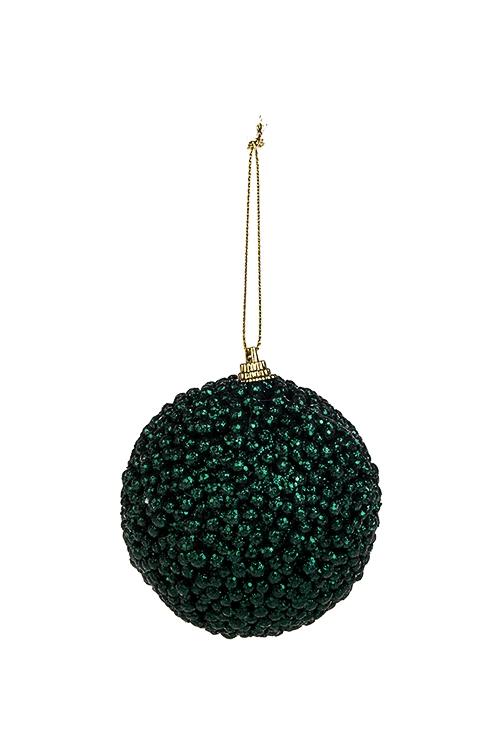 Шар елочный ИнейПодарки на Новый год 2018<br>Д=8см, пенопласт, изумрудный, подвесной<br>