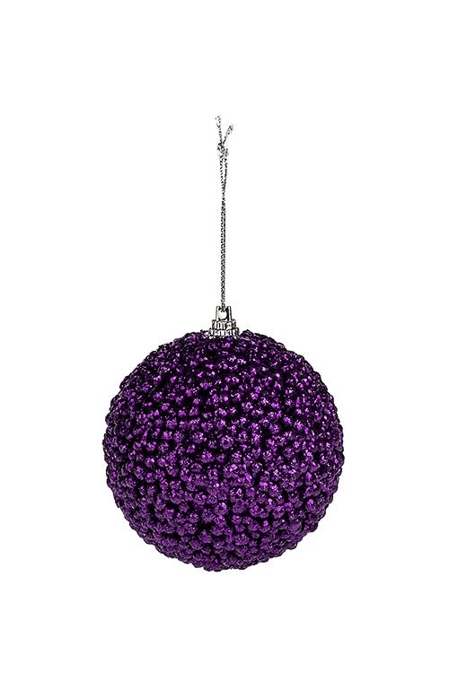 Шар елочный ИнейПодарки на Новый год 2018<br>Д=8см, пенопласт, фиолет., подвесной<br>