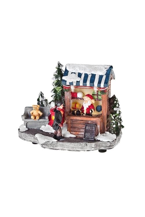 Украшение новогоднее светящееся Магазин подарковСветящиеся украшения<br>13.5*7*10см, полирезин, на батар. (3 вида)<br>