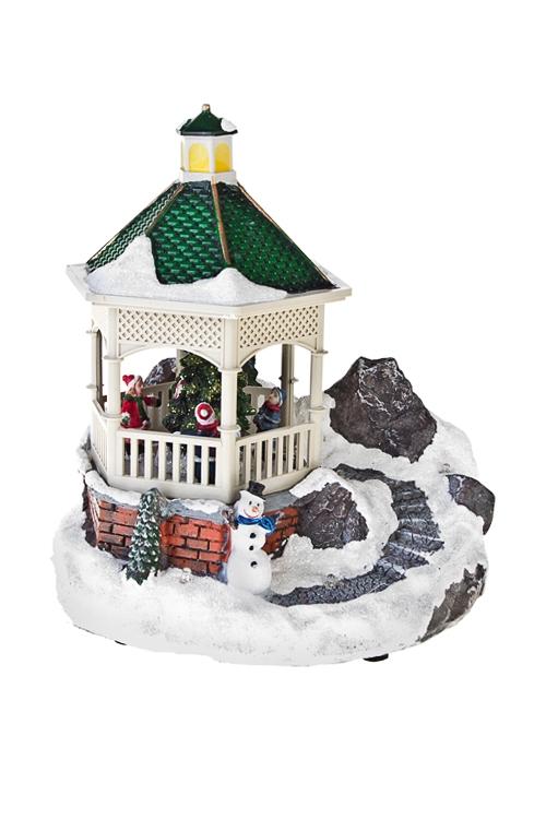 Украшение новогоднее светящееся Дети у елкиСветящиеся украшения<br>17*14*20см, полирезин, пластм., на батар.<br>