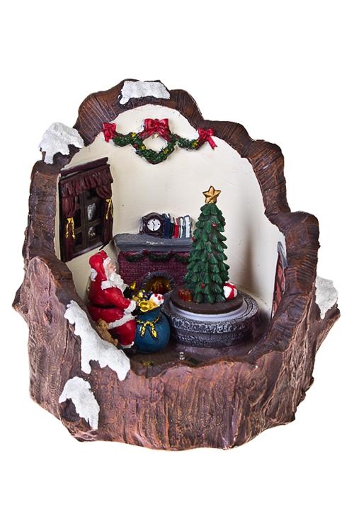 Украшение новогоднее светящееся Время подарковСветящиеся украшения<br>21*22*21см, полирезин, на батар.<br>