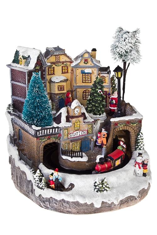 Украшение новогоднее светящееся ВокзалРазвлечения и вечеринки<br>24*25*27см, полирезин<br>