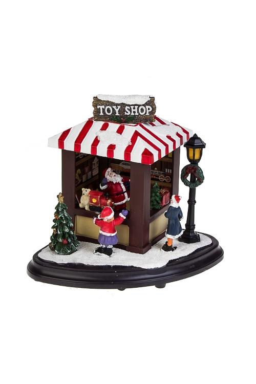 Украшение новогоднее светящееся Магазин игрушекРождественские украшения<br>13*13*14см, пластм., на батар.<br>