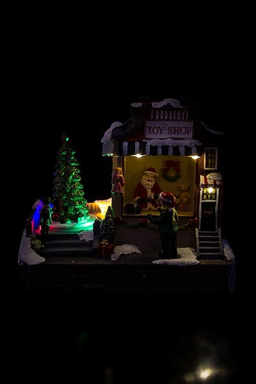 """Украшение новогоднее светящееся и двигающееся """"Магазин игрушек"""""""