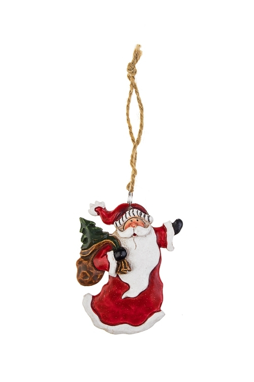 Украшение новогоднее Дедушка МорозДекоративные гирлянды и подвески<br>Выс=6.5см, полирезин, красно-белое, подвесное (4 вида)<br>