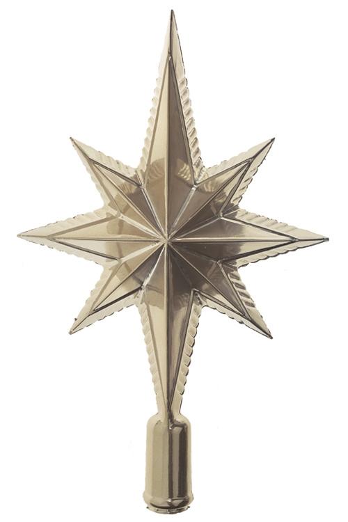 Верхушка елочная Волшебная звездаЕлочные гирлянды и верхушки<br>Выс=25см, пласт., крем.<br>