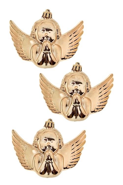 Набор украшений елочных АнгелочкиЕлочные игрушки<br>6*10см, пласт., золот.<br>