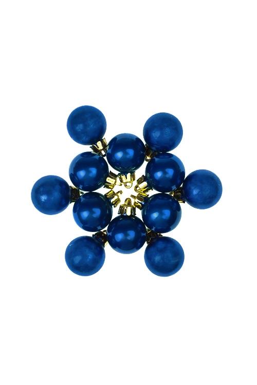 Набор шаров елочных МиниПодарки<br>12-предм., Д=2.5см, пласт., синий<br>