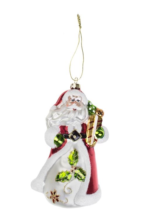 Украшение елочное Дед МорозПодарки<br>Выс=16см, стекло<br>