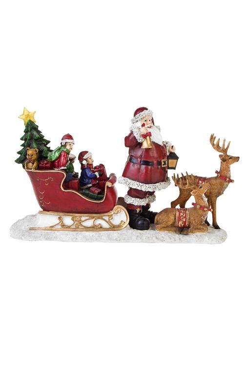 Украшение новогоднее светящееся Время подарковРазвлечения и вечеринки<br>Дл=33см, полирезин, на батар.<br>