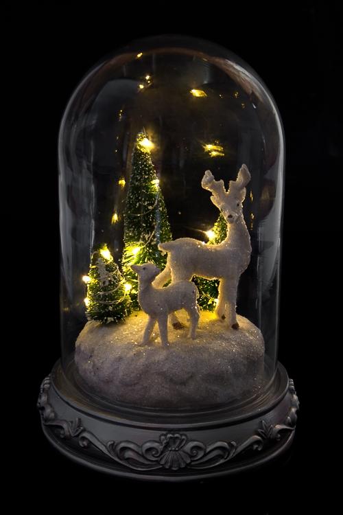"""Украшение новогоднее светящееся """"Прекрасные олени"""""""