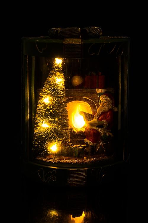 """Украшение новогоднее светящееся """"Дед Мороз у камина"""""""