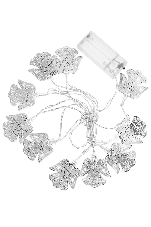 Гирлянда декоративная светящаяся АнгелочкиЕлочные гирлянды и верхушки<br>Дл=180см, металл, серебр., на батарейках<br>