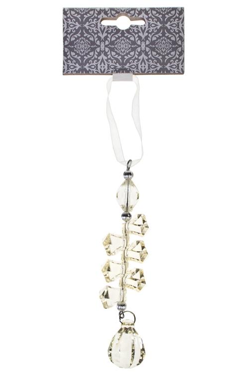 Украшение декоративное Блеск кристалловСувениры и упаковка<br>Выс=22см, акрил, крем., подвесное<br>