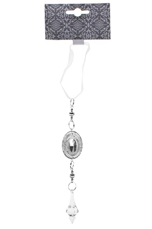 Украшение декоративное Прекрасная подвескаСувениры и упаковка<br>Выс=27см, акрил, крем.-серебр., подвесное<br>