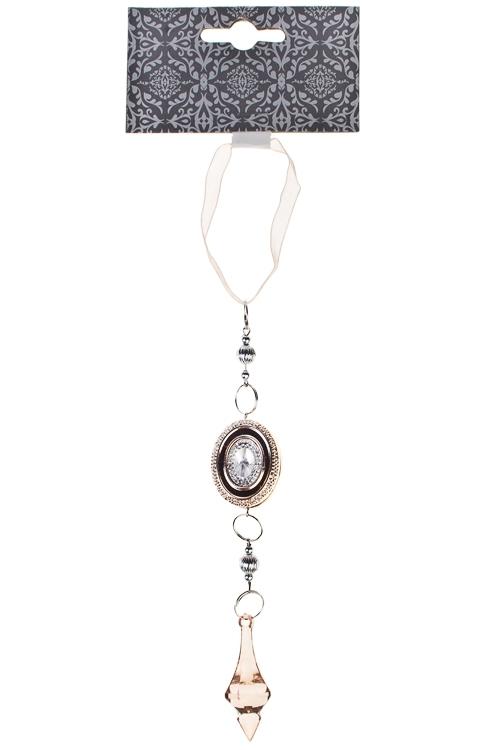 Украшение декоративное Изысканная подвескаСувениры и упаковка<br>Выс=25см, акрил, розово-золот., подвесное<br>