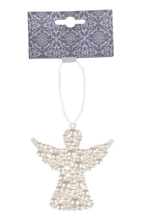 Украшение декоративное Жемчужный ангелСувениры и упаковка<br>9*9см, пластм., крем., подвесное<br>