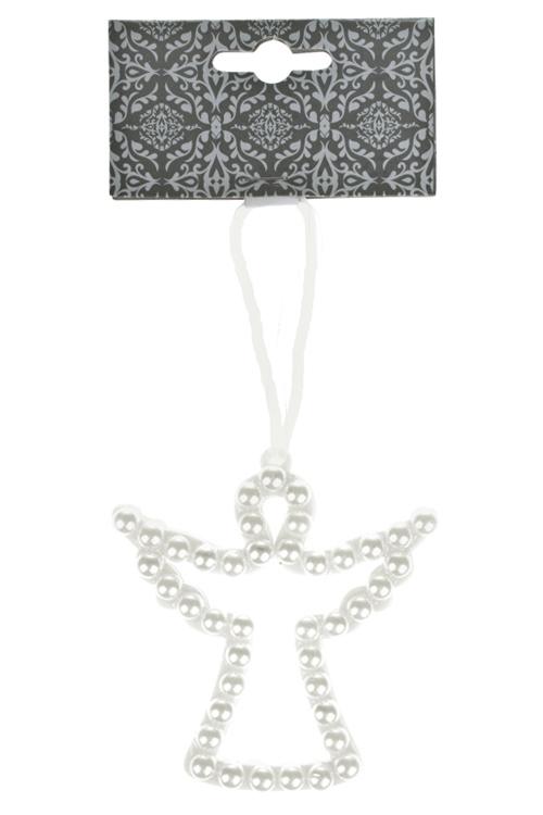 Украшение декоративное Жемчужный ангелДекоративные гирлянды и подвески<br>9*9см, пластм., крем., подвесное<br>
