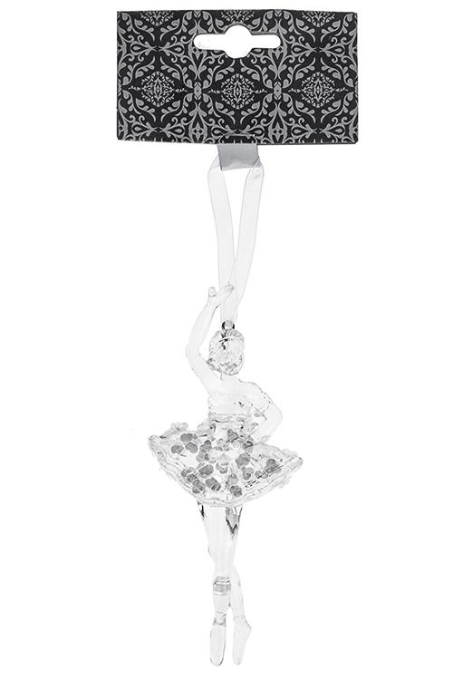 Украшение декоративное Изящная балеринаДля дочери<br>Выс=12см, пластм., прозр., подвесное (2 вида)<br>