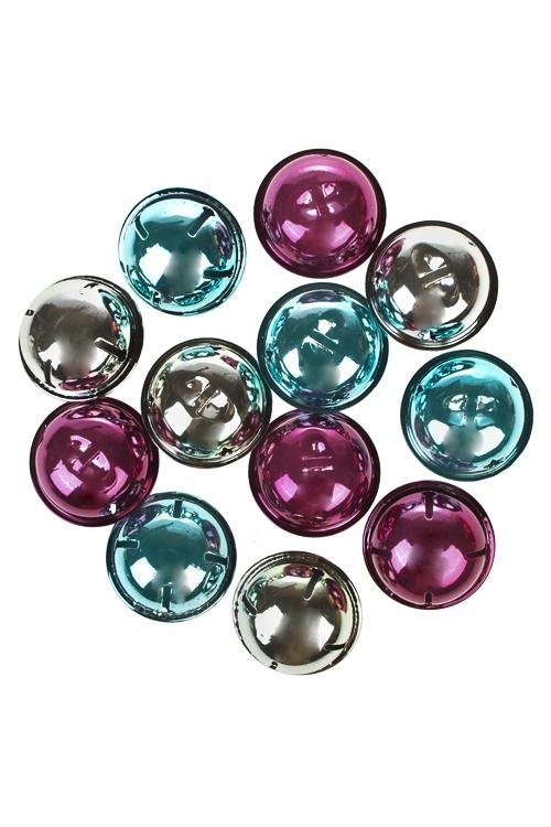 Набор украшений новогодних БубенцыЕлочные игрушки<br>Д=4см, металл, подвесное<br>