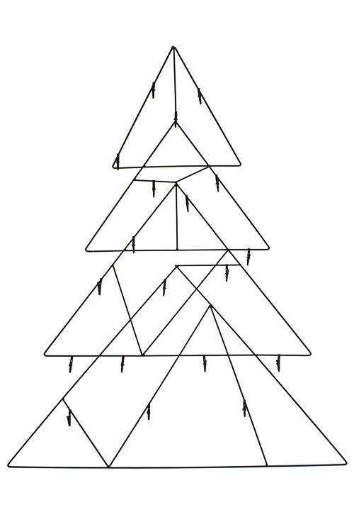 Украшение новогоднее настенное Волшебная елочкаИнтерьер<br>60*75см, металл, черное, с прищепками для игрушек<br>