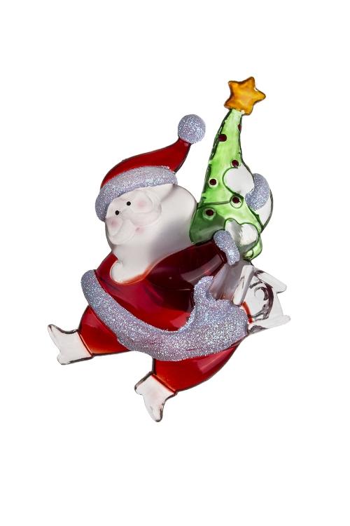 Украшение новогод. светящ. Новогодний персонажМэри<br>Выс=13см, акрил, на присоске (2 вида), на батар.<br>