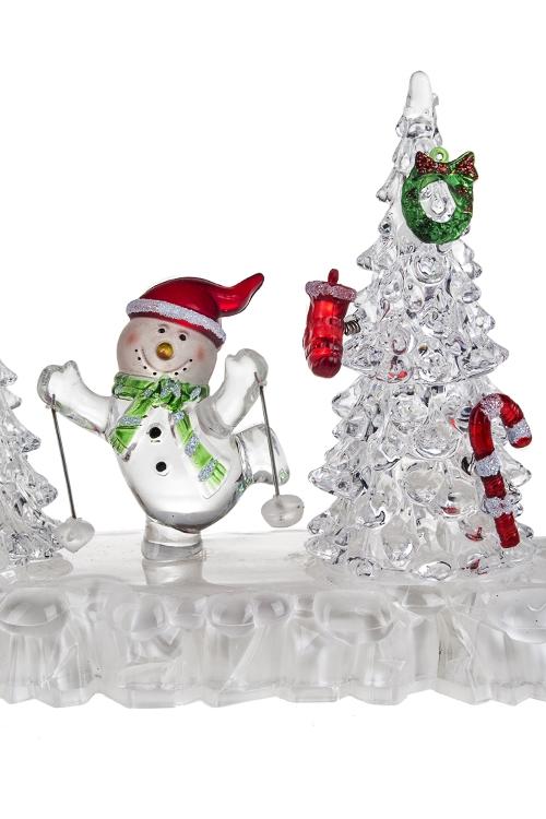 """Украшение новогоднее светящееся """"Снеговички"""" - 3"""