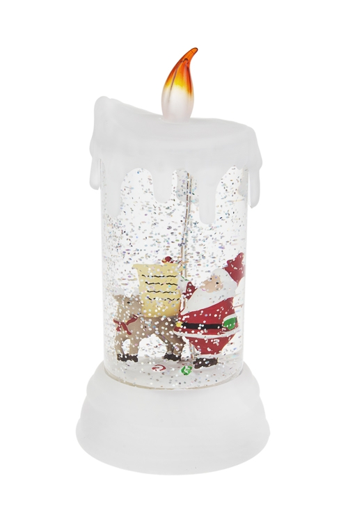 Украшение новогоднее светящееся Дед Мороз с письмомСветящиеся украшения<br>Выс=19см, акрил, на батар., с жидкостью<br>