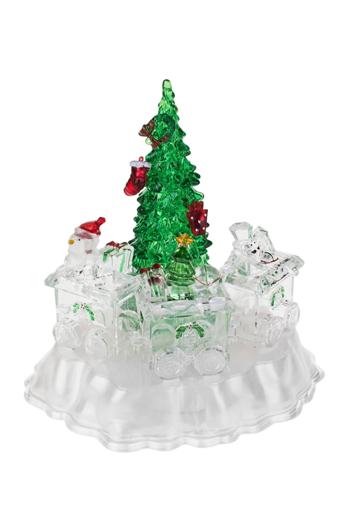 Украшение новогоднее светящееся Снеговик с подаркамиРазвлечения и вечеринки<br>19*16*20см, акрил, на батар.<br>