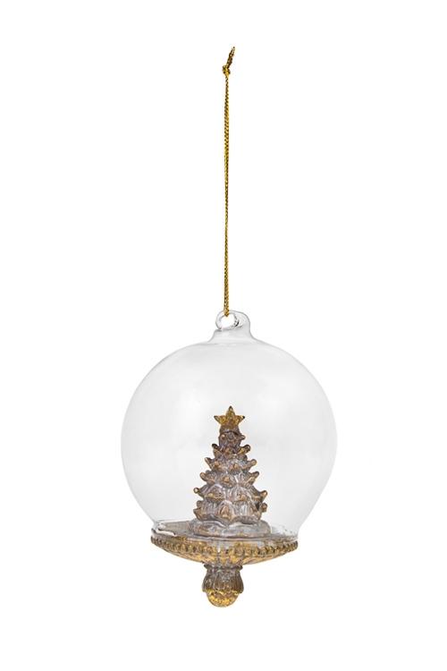 Украшение новогоднее Прекрасная елочкаЕлочные игрушки<br>8*12см, полирезин, золот., подвесное<br>