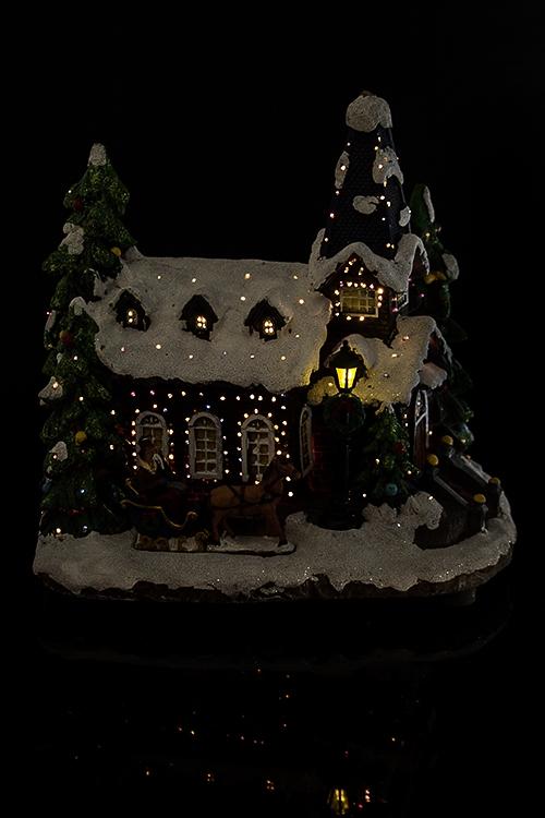 """Украшение новогоднее светящееся """"Праздничный дом"""""""