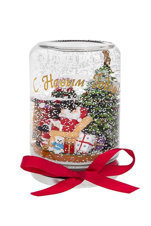 """Купить со скидкой Украшение новогоднее """"Дед Мороз у камина"""""""
